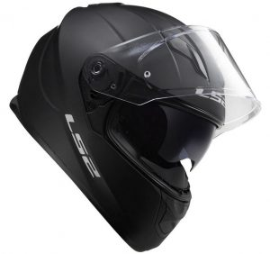 LS2-FF320 Stream-plain matt black Motorcycle-Helmet side view