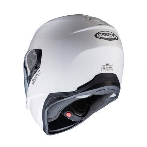caberg-drift-white-motorbike-crash-helmet-rear-view