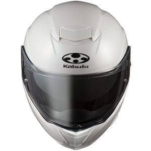 kabuto_ibuki crash helmet front view_pearl-white