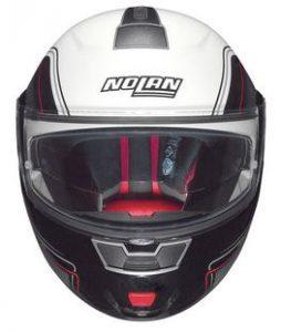 nolan n91 evo ammersee modular crash helmet silver front view