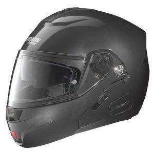 nolan n91 evo modular crash helmet matt black side view