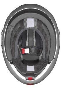 nolan n91 evo modular crash helmet silver inside view