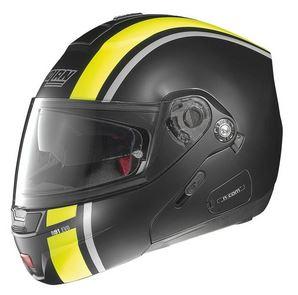 nolan n91 evo strip modular crash helmet side view