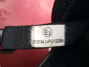 dual homologated flip up helmet label
