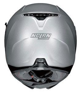 nolan-n87-silver-crash-helmet-rear-view