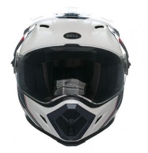 bell mx9 adventure barricade motorcycle crash helmet front view