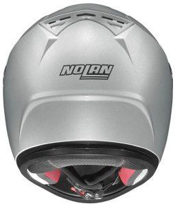 nolan-n64-silver-black-crash-helmet-rear-view