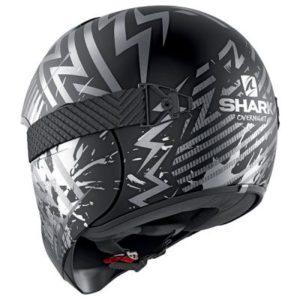 shark vancore 2 helmet overnight black slilver rear view 2