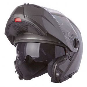 LS2-FF325-Strobe-Motorcycle-Helmet-solid-gunmetal-chin-guard-up