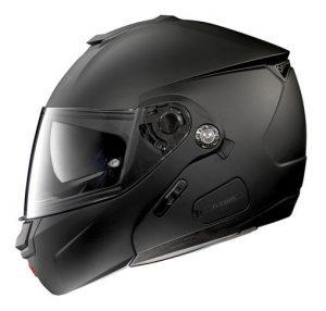 Nolan-N90-2-classic-matt-black--motorbike-crash-helmet-side-view