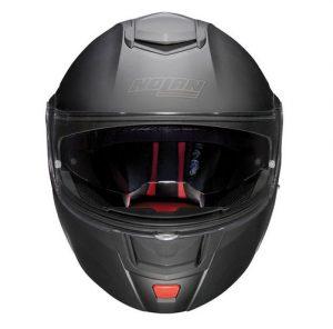 Nolan-N90-2-special-matt-black--motorbike-crash-helmet-front-view