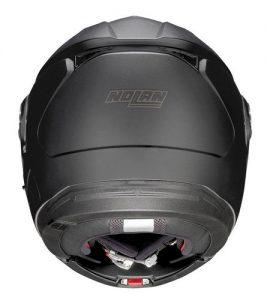 Nolan-N90-2-special-matt-black--motorbike-crash-helmet-rear-view