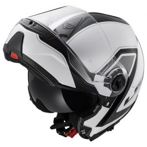 ls2-strobe-civik-crash-helmet-black-white-chin-guard-up-top-view