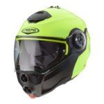 caberg droid hi vizion flip up helmet front view