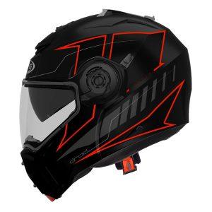 caberg-droid-modular-crash-helmet-matt-black-red-fluo-blaze-side-view