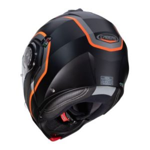 caberg droid pure anthracite orange helmet rear view