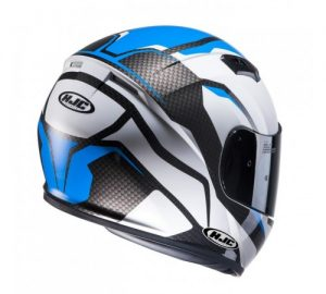 hjc cs-15 sebka motorcycle crash helmet rear view