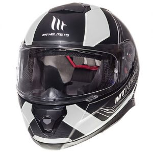 MT-Thunder-3-motorbike-crash-helmet-trace-black-white-front-view