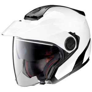 Nolan-n40-5-GT-N-com-metal-white-motorcycle-helmet-front--side-view
