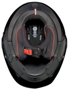 Nolan-n40-5-GT-N-com-solid-matt-black-motorcycle-helmet-inside-view