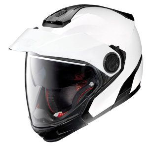 Nolan-n40-5-GT-N-com-solid-white-motorcycle-helmet-side-view