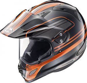 arai-xd4-distance-orange-dual-sport-helmet-side-view