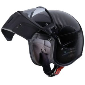 caberg ghost carbon helmet face guard up