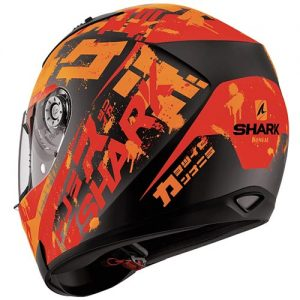 shark-ridill-motorcycle-helmet-kengal-orange-red-rear-view