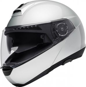 schuberth-C4-gloss-silver-motorcycle-helmet-side-view