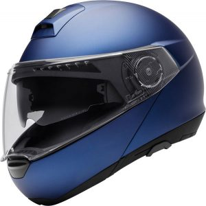 schuberth-C4-motorcycle-helmet-matt-blue-side-view