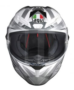 AGV-Veloce-S-motorcycle-helmet-multi-freccia-white-grey-front-view