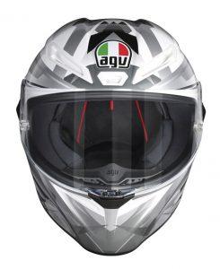 AGV-Veloce-S-motorcycle-helmet-multi-freccia-white-grey-front-view