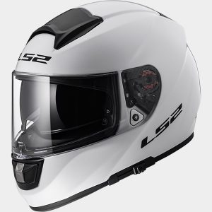 ls2 ff397 vector full face motorcycle crash helmet solid white side view