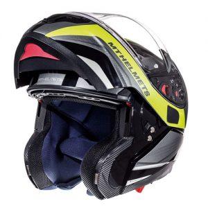 MT-Atom-Black-Fluo-yellow-flip-front-crash-helmet-side-view-open