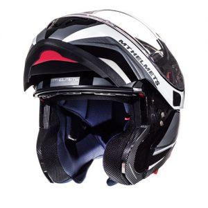MT-Atom-Tarmac-Black-White-modular-motorcycle-helmet-Front-view-open