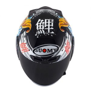 suomy-apex-jap-black-gold-crash-helmet-top-down-view