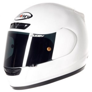 suomy-apex-plain-white-motorbike-crash-helmet-side-view