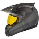 icon variant ghost carbon motorcycle crash helmet side view