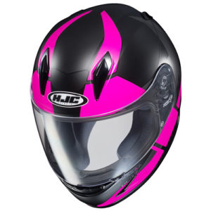 HJC-CLY-Boost-pink-black-motorcycle-crash-helmet-top-view