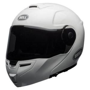 Bell-SRT-modular-crash-helmet-solid-gloss-white-front