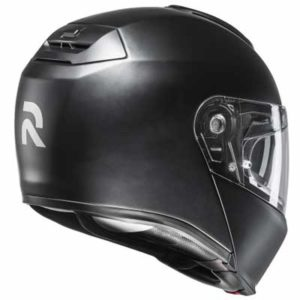 HJC-RPHA-90-flip-up-helmet-matt-black-rear-view