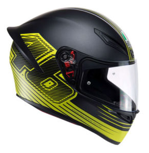 agv-k1-crash-helmet-rossi-edge-vr46-side-view