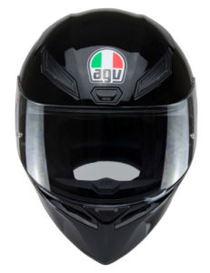 agv-k1-motorbike-crash-helmet-gloss-black-front-view