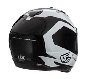 6D-ATS-1-White-Carbon-motorcycle-helmet-rear-view