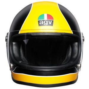 agv-x3000-matt-black-yellow-motorbike-helmet-front-view