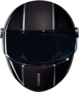 Nexx X.G100R carbon fibre motorbike helmet front view