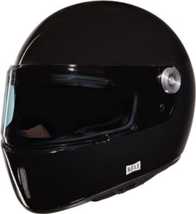 Nexx X.G100R purist gloss black motorcycle helmet front view