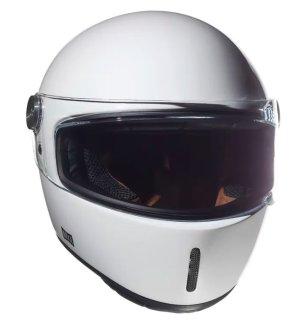 Nexx XG100R racer retro helmet Purist White front view 2