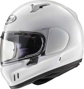 arai-defiant-x-solid-white-motorcycle-crash-helmet-side-view