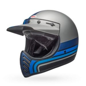Bell-Moto3-black-silver-blue-stripes-helmet-side-view